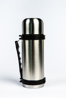 Stainless steel cup isolated on a white