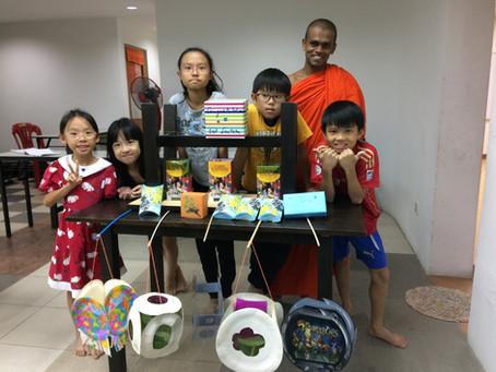 Sunday Dhamma School Organises Lantern Making Contest
