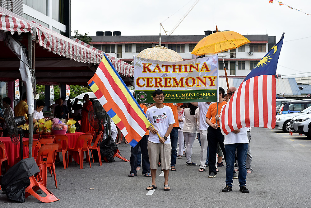 Kathina Procession around Bandar Puteri, Puchong.