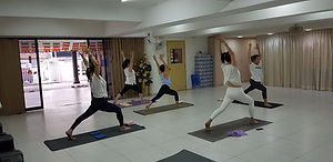 Yoga class at Bangsar Center
