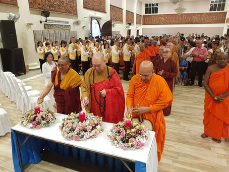Monks hold mass prayer seeking blessings for victims