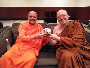Chief Dhammaratana and Ajahn Brahm