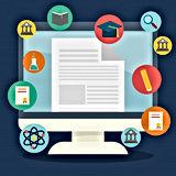 iconos-educacion-aprendizaje-electronico