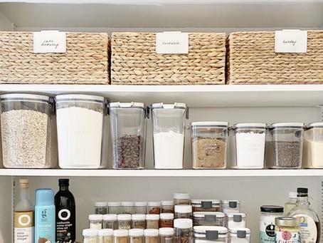 An Organized Baking Cabinet