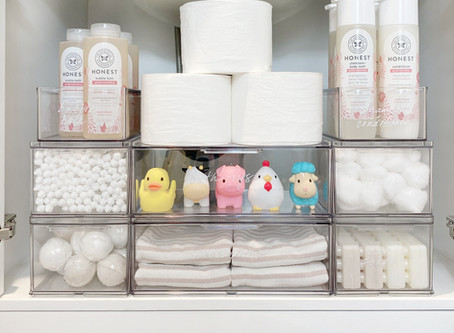 An Organized Bathroom for Kids