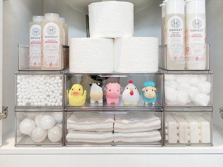 An Organized Bathroom for Kids