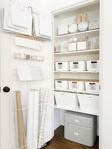 How to Create an Organized Wrapping Area