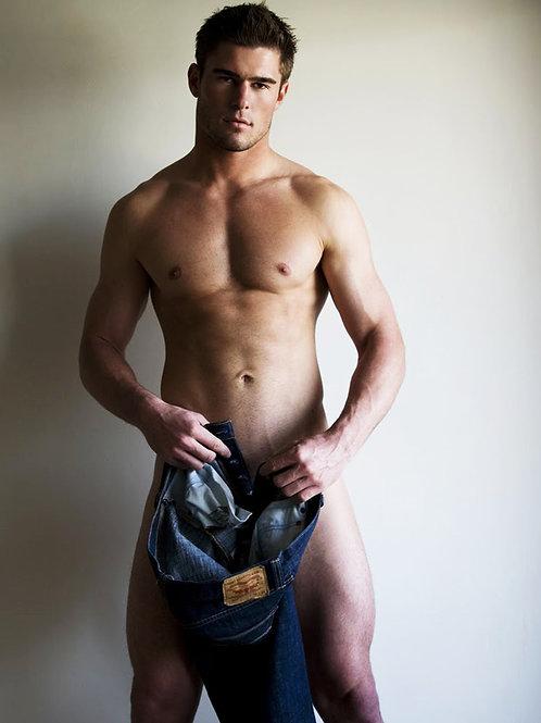 Allen Walker Holding his Jeans