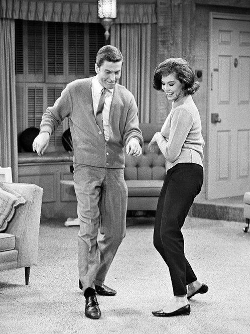 Mary Tyler Moore Dancing with Dick Van Dyke On the Set of the Dick Van Dyke Show