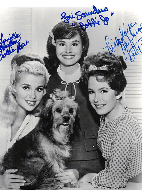 3 Pretty Girls From Petticoat Junction with thier Dog