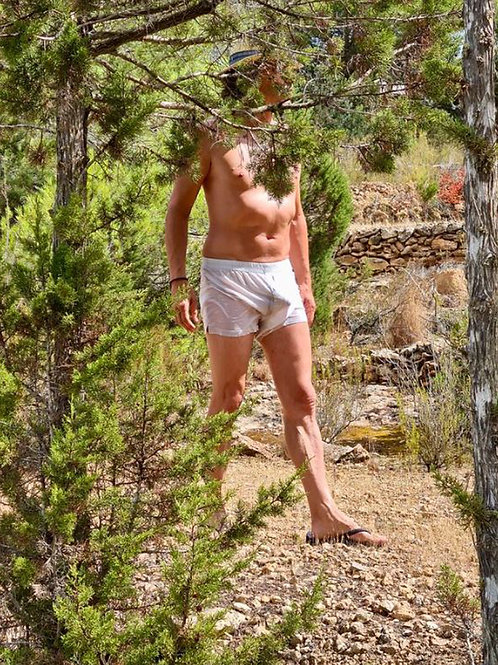 Cruising the Woods in his Underwear