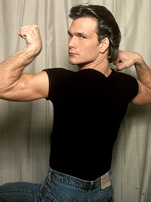 Patrick Swayze Flexing his Arms in 1982