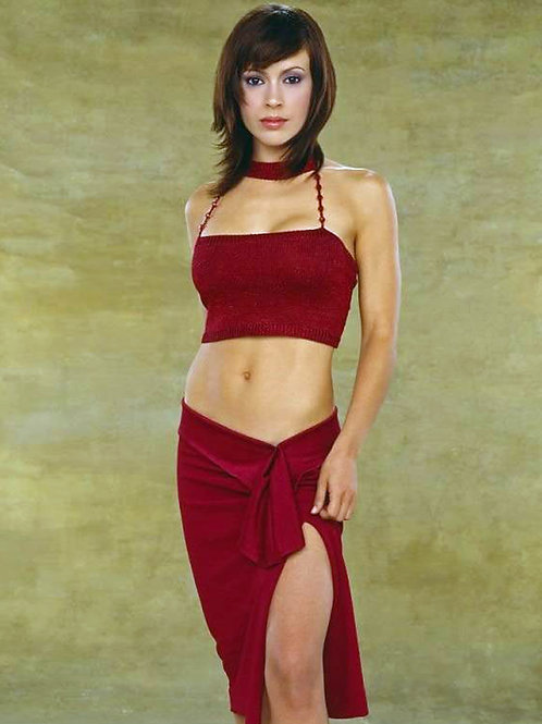 Alyssa Milano Wearing a Sultry Red Outfit