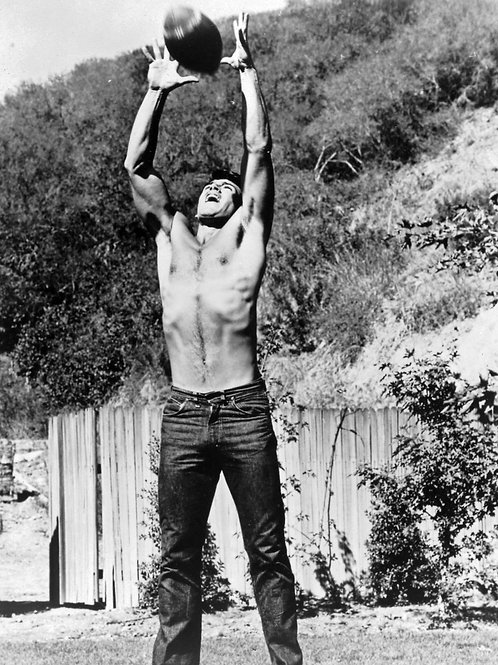 Van Williams Shirtless Playing Football in Tight Jeans