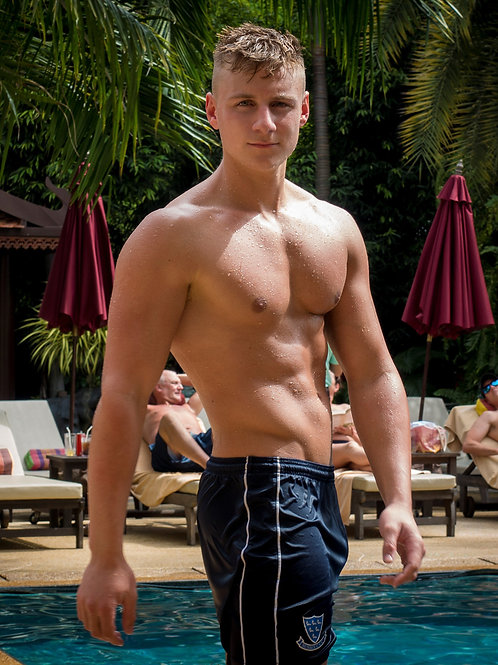 Wet Hunk by the Hotel Pool