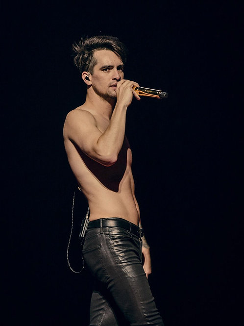 Brendon Urie Shirtless on Stage