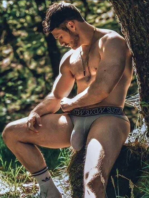 Bulging Muscles Under a Tree