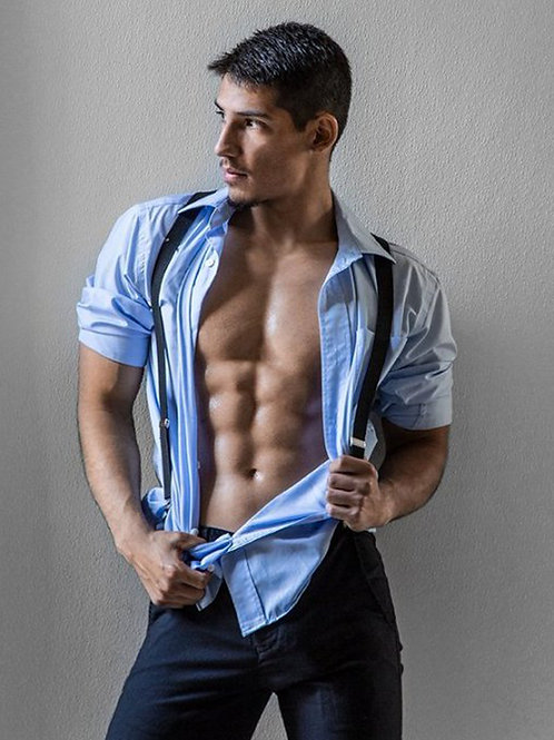 Blue Shirt & Suspenders