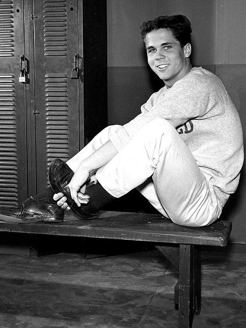 Tony Dow as Wally in a Locker Room