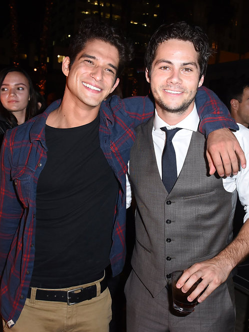 Tyler Posey and Dylan O'Brien at a Bar