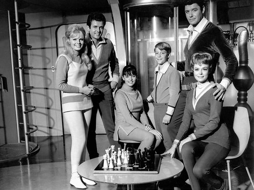 Cast of Lost in Space Playing Chess