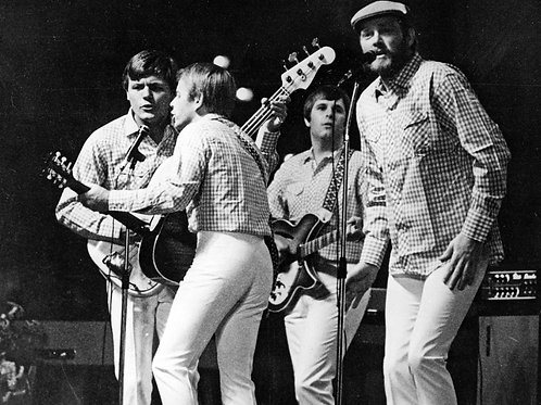 Beach Boys Singing on Stage in the 1960's