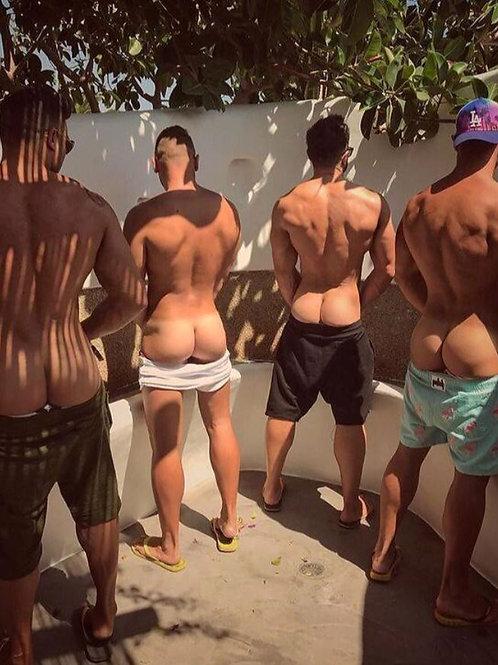 4 Peeing in the Garden Trough