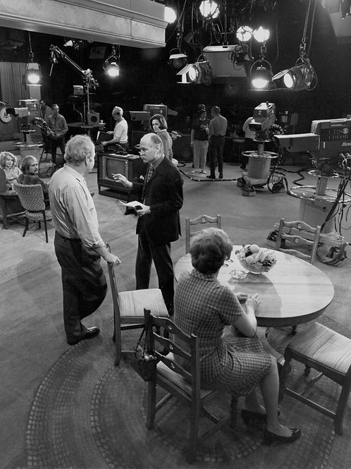 Cast of All in the Family on the Set with Carol Talking to the Director