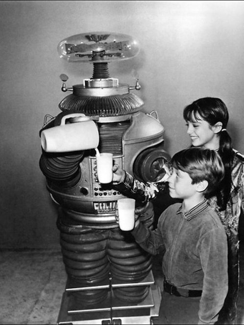 B Robot From Lost in Space Pouring Milk for Billy Mumy & Angela Cartwright