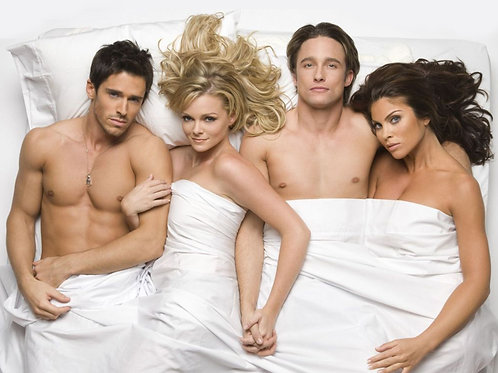 Brandon Beemer & Jay Kenneth Johnson in bed with 2 Beautiful Ladies