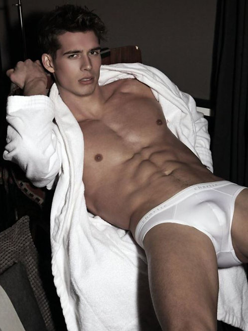 White Robe & Briefs