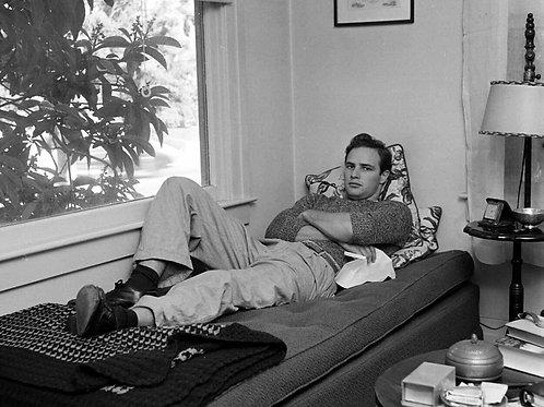 Marlon Brando Relaxing at Home