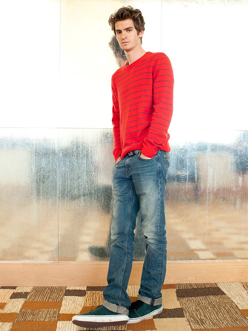 Andrew Garfield Leaning on a Wall