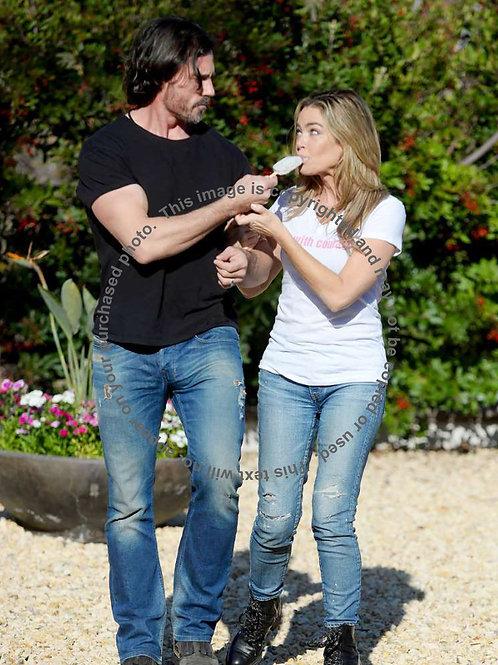 Aaron Phypers & Wife Denise Richards Share Ice Cream