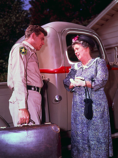 Andy Griffith in a Scene with Frances Bavier in The Andy Griffith Show