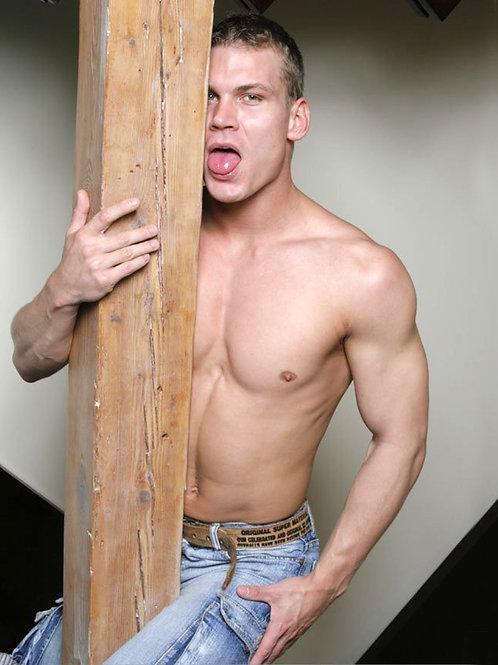 Drago Lembeck Hugging a Post