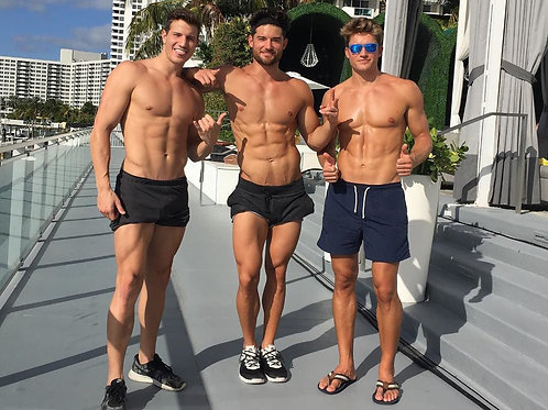 3 Totally Ripped Dudes in Shorts
