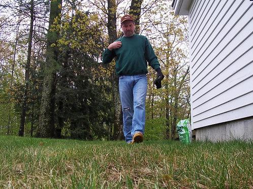 Bulging Landscaper Coming Around the Corner
