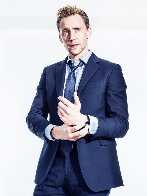 Tom Hiddleston Holding his Wrist
