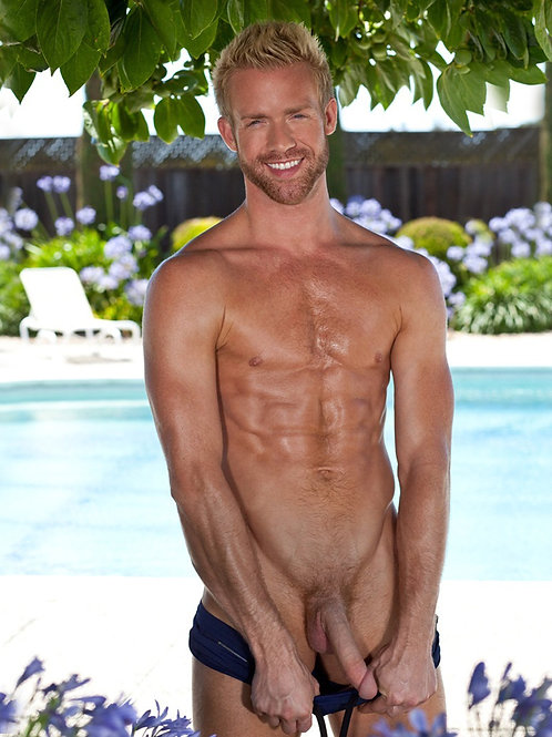 By the Pool Lowering his Speedo