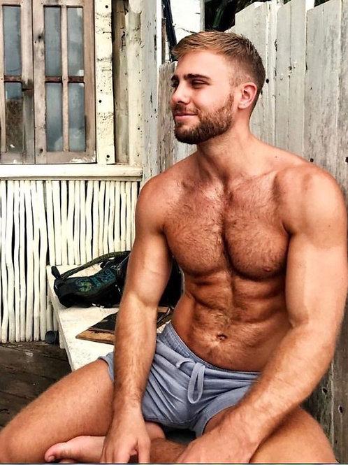 Handsome Guy Outside a Shack