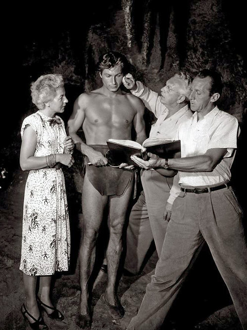 Lex Barker in Makeup for Tarzan