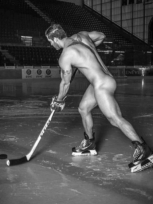 Naked Hockey Player