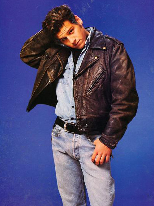 Billy Jayne Wearing Jeans & Leather