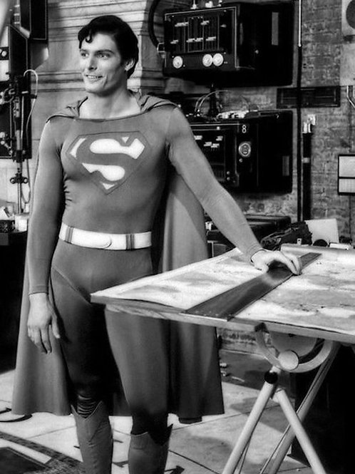 Christopher Reeve as Superman Behind the Scenes