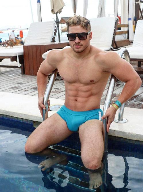 Henry Licett Sitting on the Pool Ladder