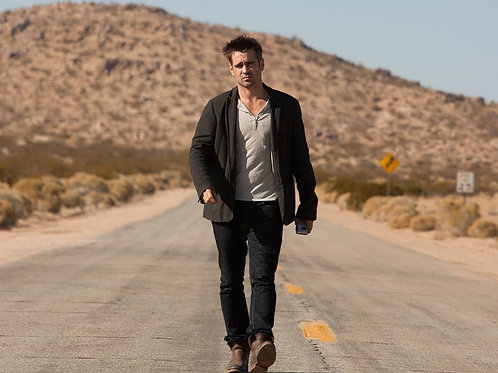 Colin Farrell Walking Down a Highway