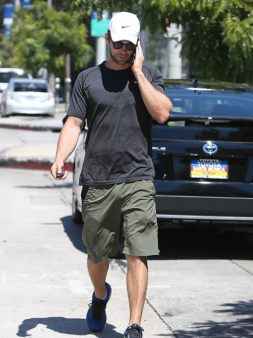 Chace Crawford Wearing Green Shorts