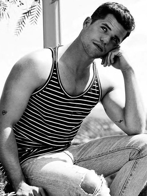 Charlie Carver Sitting on a Wall
