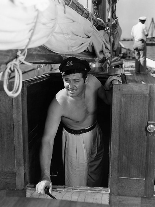 Clark Gable on a Yacht on September 1936